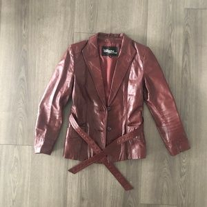 Wilson's Vintage Red Leather Jacket